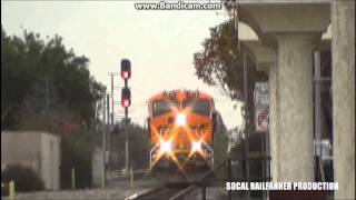 BNSF Christmas special blasting through Upland Metrolink