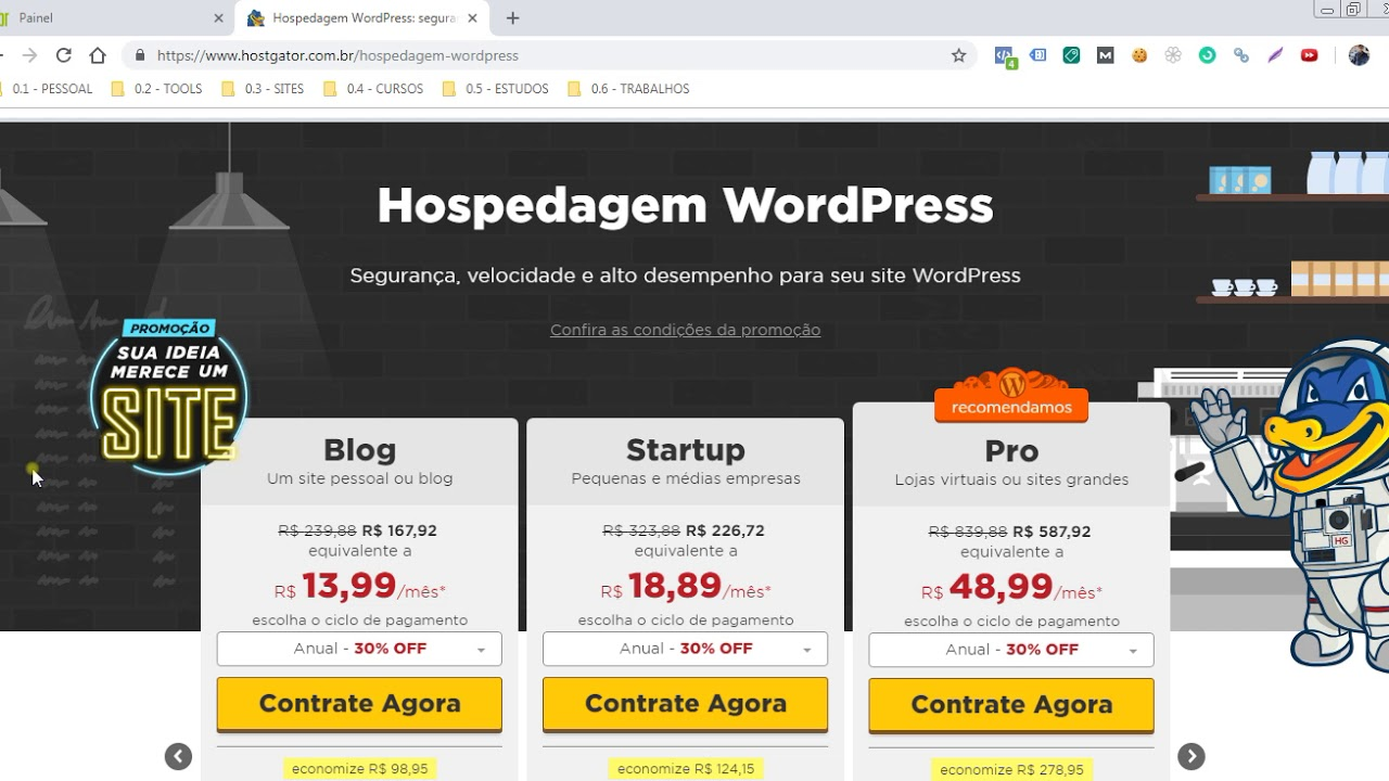 CONTRATAR HOSPEDAGEM DE SITES HOSTGATOR