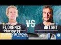 John John Florence vs. Mikey Wright - Round Two, Heat 1 - Quiksilver Pro Gold C…