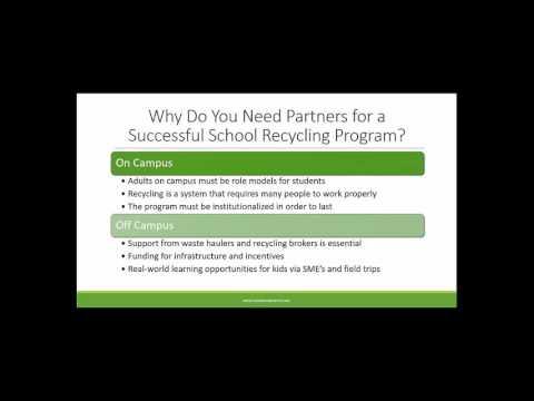 Go Green Initiative School Recycling Webinar with Jill Buck