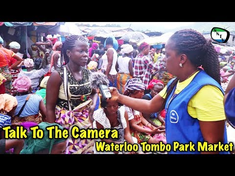 Talk To The Camera - Waterloo Tombo Park Market - Sierra Leone