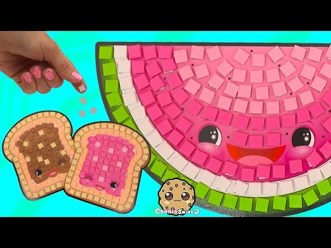 Sticker Mosaics By Number Silly Snacks Foods Peanut Butter Jelly Sandwich  Craft Video Cookieswirlc