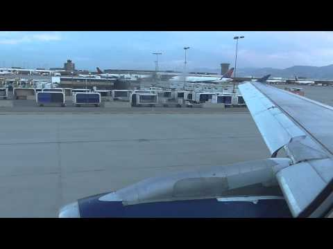Delta A320 Pushback, Engine Start Taxi and Takeoff Salt Lake City