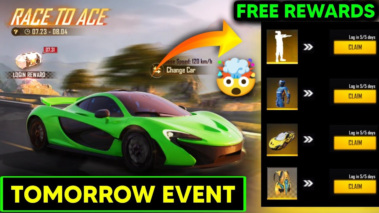 FF NEW EVENT - FREE FIRE TOMORROW FREE REWARDS MCLAREN EVENT || FREE FIRE 4TH ANNIVERSARY EVENT