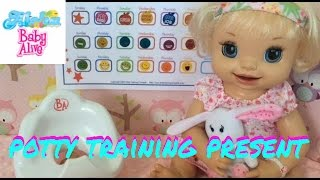 Baby Alive Layla's Potty Training Chart and Present from Target Store! 👧�🚽��🎉�