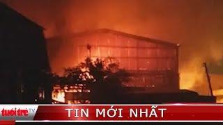 Cháy lớn tại vựa thanh long, thiệt hại gần 4 tỉ đồng