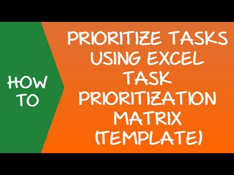 Task Prioritization Matrix (To Do List) - Excel Template