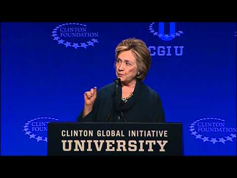Hillary Clinton Recognizes Babson Senior at CGI U 2014