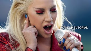 lady gaga super bowl 50 inspired makeup tutorial