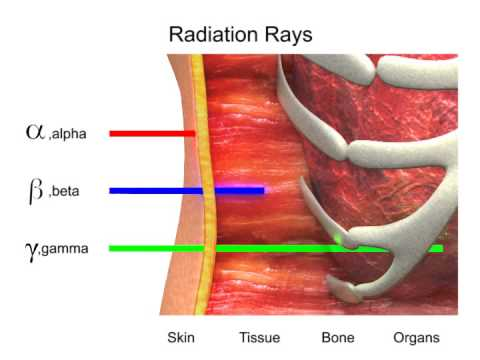 Radiation Rays: Alpha, Beta and Gamma