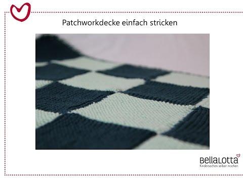 Babydecke / Patchworkdecke Einfach Stricken