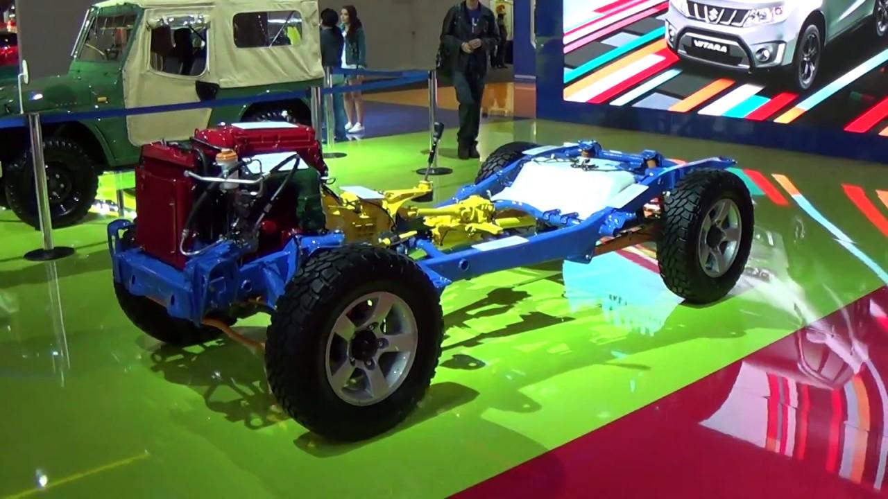 Next Suzuki Jimny >> SUZUKI JIMNY CHASSIS DEMOSTRACION SALON BRASIL - YouTube