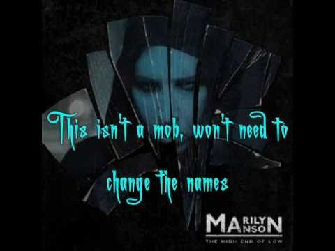 Into The Fire - Marilyn Manson [Lyrics, Video w/ pic.]