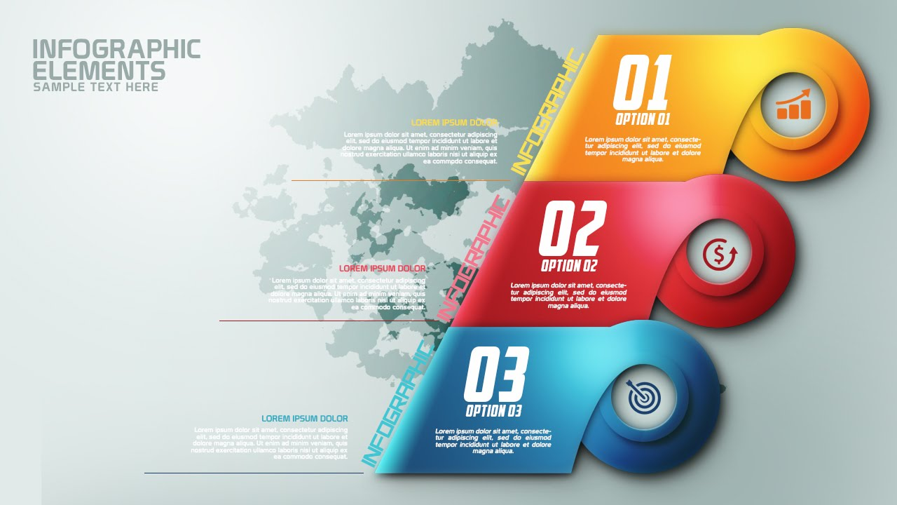 How To Create Modern Infographic Colorfull Options Banner ...