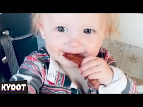I Think She Likes It! Mmm 🤣 | Baby Cute Funny Moments | Kyoot