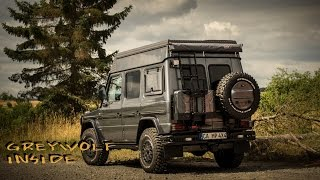 Mercedes Benz G Klasse - 4x4CAMP expedition camper greywolf interieur