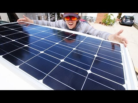 Van life -  Installing solar panels on the vanagon