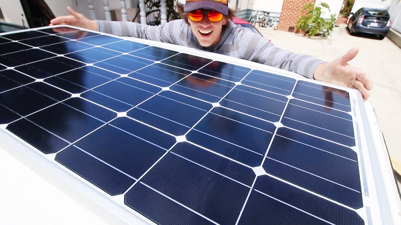 Van Life Installing Solar Panels On The Vanagon Youtube