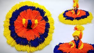 Very Easy Winter/woolen dress for laddu gopal without knitting/bunai step by step