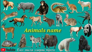 Wild animals names (जंगली जानवरों का नाम) Pictur And Sounds For Kids || wild animals names hindi
