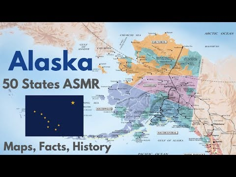 [ASMR] State Map Geography Part 11: Alaska
