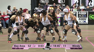 B.ay A.rea D.erby Girls v Windy City Rollers: WFTDA Championships 2013 in Milwaukee