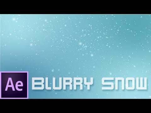Blurry Snow Animation - Adobe After Effects Tutorial. No Plugins. thumbnail
