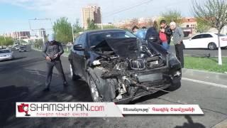 Ողջ գիշեր վթարում հայտնված BMW X6 ը չկարողացան տեղափոխել արհեստավորի մոտ