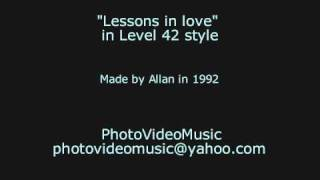 Level 42 Lessons in love karaoke