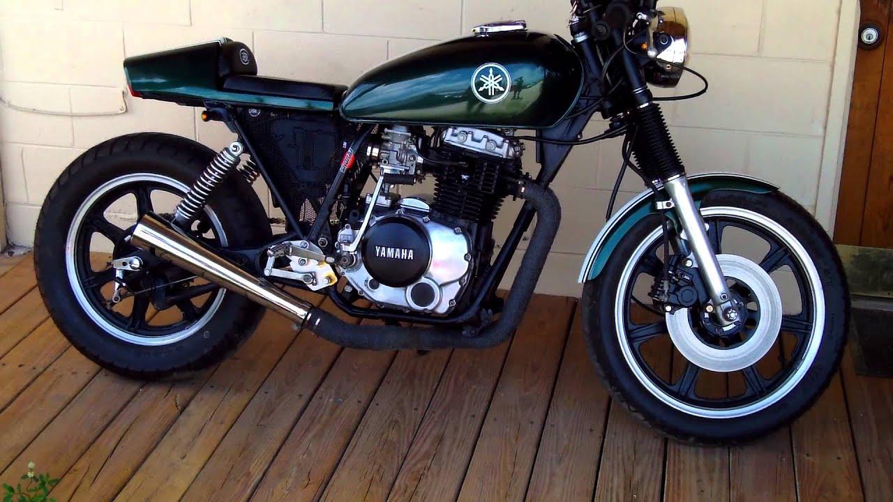 bare bone rides custom 1981 yamaha xs400 cafe racer sound. Black Bedroom Furniture Sets. Home Design Ideas