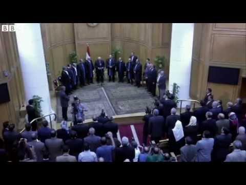 Egypt split over new interim leader Adly Mansour
