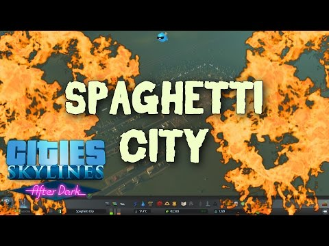 Cities Skylines - Spaghetti City - One Road Challenge
