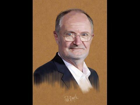 Jim Broadbent digital painting by Rob Doyle
