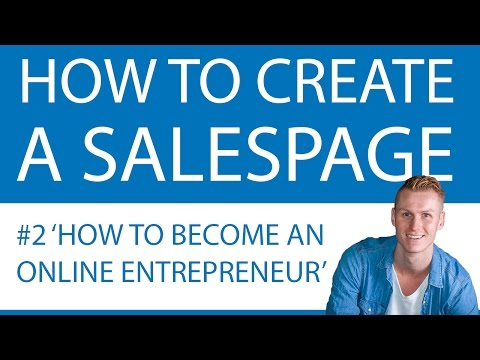 How To Create A Salespage 2017