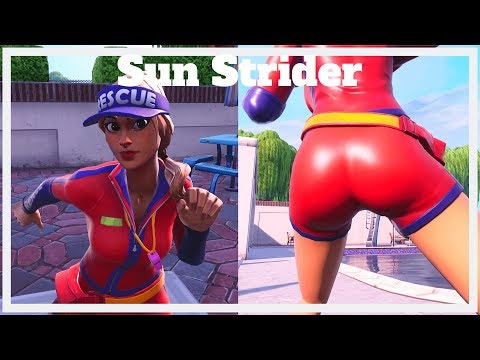 The THICCEST Life Guard In Fortnite | Sun Strider 👙💘