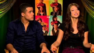 For more coverage go to http://www.hitfix.comjacob artist and melissa benoist are two new faces in glee. both actors talk about their experience so far, intr...