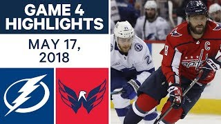 NHL Highlights | Lightning vs. Capitals, Game 4 - May 17, 2018