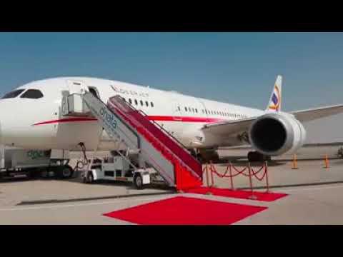 Luxury Business Class Flight in side.
