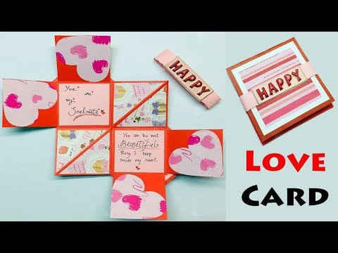 Love Greeting Card | Greeting Cards Latest Design Handmade | I Love You Card Ideas 2019