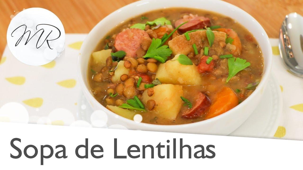Sopa de Lentilhas na Panela de Pressão Elétrica - Maurício Rodrigues