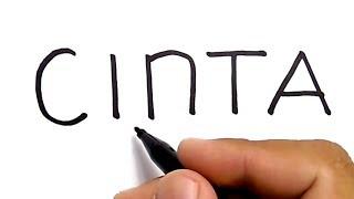 WOW, cara menggambar kata CINTA jadi gambar ROMANTIS