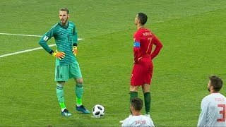 Cristiano Ronaldo - Shuts Up David De Gea | All 7 Goals | 2011/2018 HD