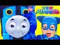 PJ Masks CATBOY at GIANT TOY STORE! Hide N Seek Giraffe Search 4 NEW TOYS