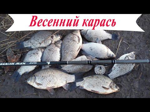 Весенний КРУПНЫЙ КАРАСЬ в марте! Рыбалка2020