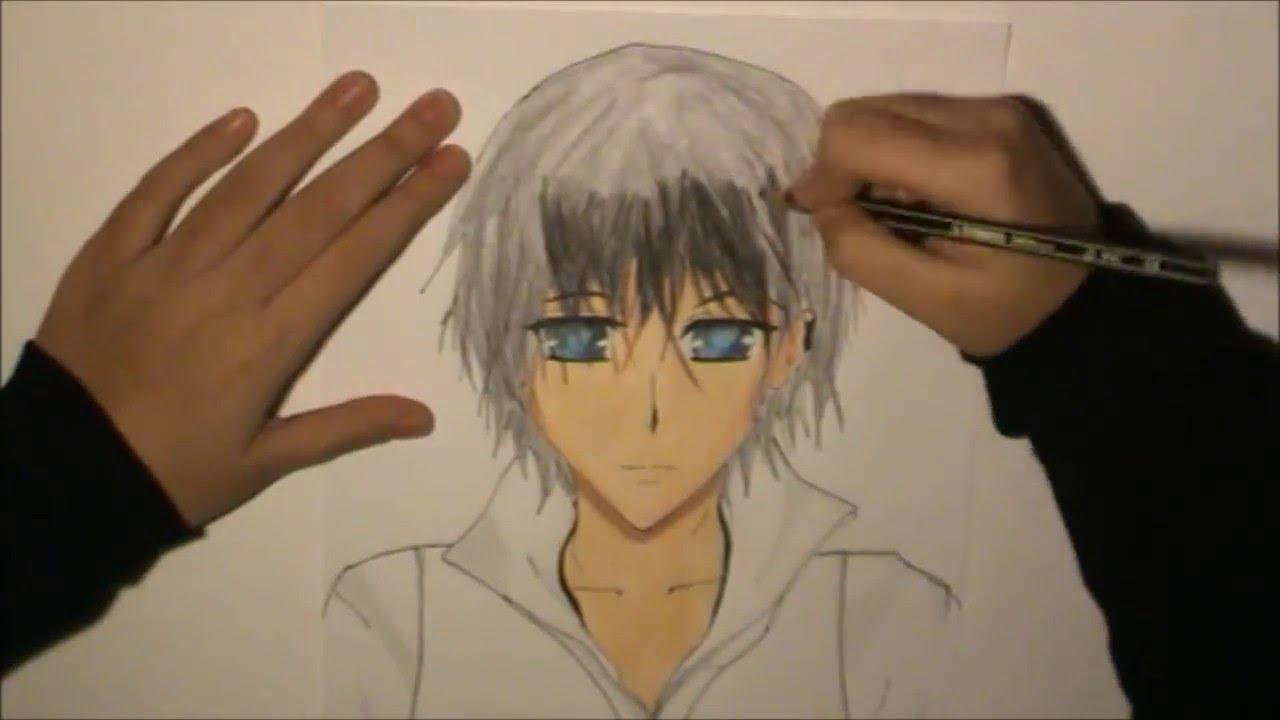 Cómo pintar un chico anime/ How to paint a anime boy - YouTube