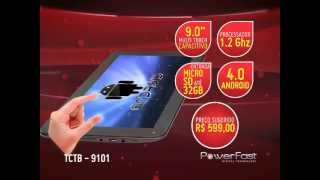 "Tablet Powerfast - 9.0"" Capacitivo, Processador 1.2Ghz, Android 4.0 - TCTB 9101"
