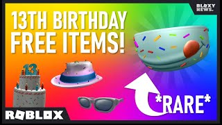 How to get the CAKE MASK and ALL FREE Roblox 13th Birthday Items!