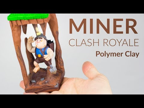 Miner (Clash Royale & Clash Of Clans) – Polymer Clay Tutorial