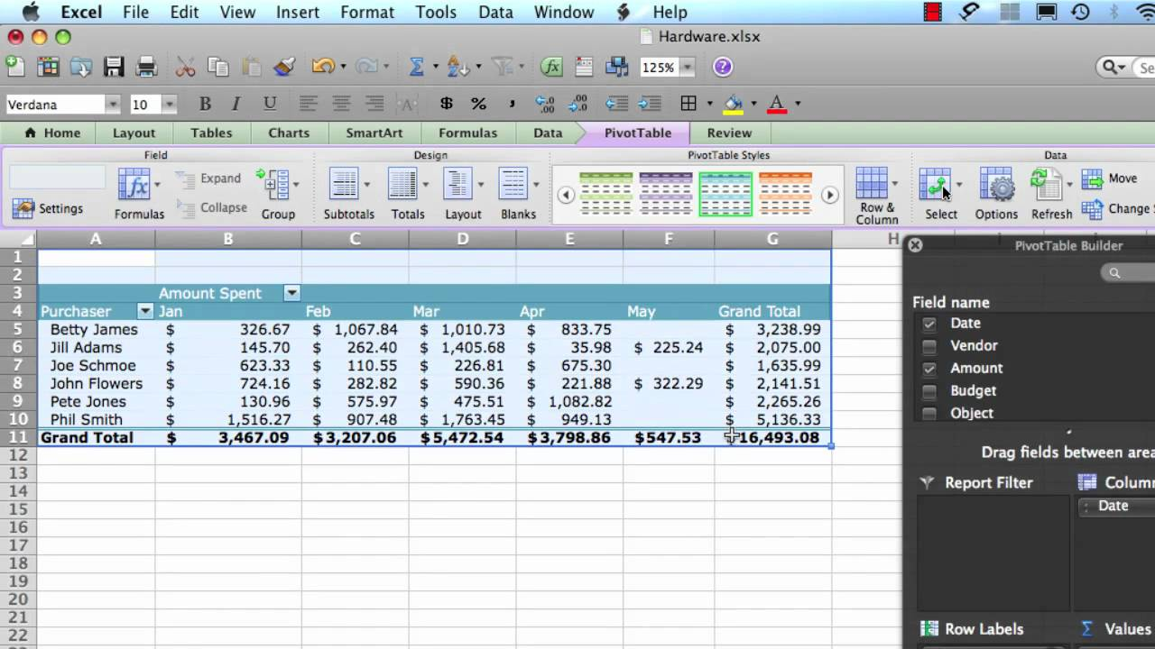 excel 2011 for mac pivot tables step 4 youtube