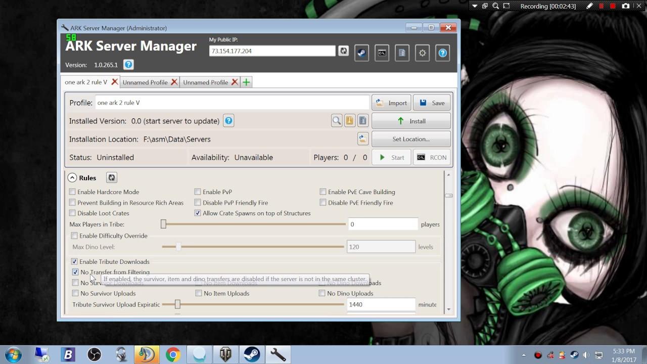 Cross-ARK Data Transfer | ARK Server Manager